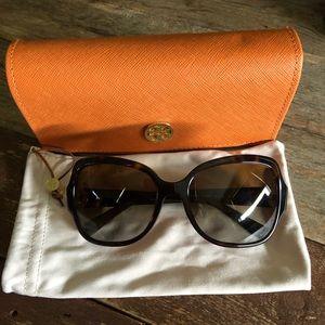 Tory Burch polarized sunglasses, dark tortoise